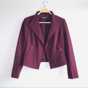 NWOT White House Black Market maroon blazer